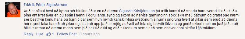 Friðrik Pétur Sigurðarson vill að Ísmaðurinn fái að njóta vafans, þótt allar staðreyndir séu augljósar. Afneitun er greinilega þægilegri en sannleikurinn.